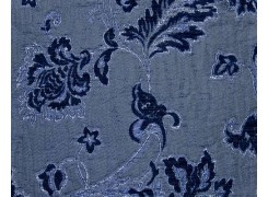 Ткань Сиеста синяя 160А