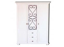 Шкаф для одежды «Глория-5» (белая отделка)