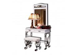 Стол туалетный с зеркалом «Глория-8» (белая отделка)