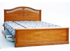 """Кровать """"Розмари 012.02-1"""" с ящиками для белья и резьбой"""